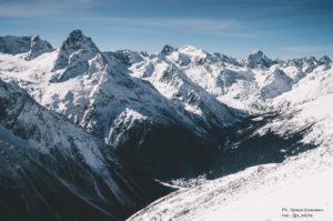 Домбай Горы долина, горный массив
