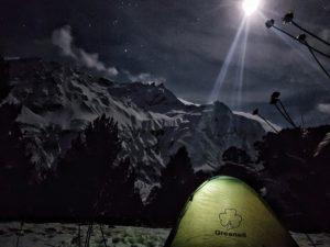 Эльбрус горы зима палатка