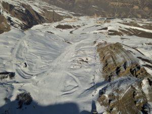 Шахдаг горнолыжный курорт вид сверху, квадрокоптер